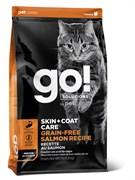 Беззерновой сухой корм GO! Natural Holistic New для котят и кошек с Лососем (GO! SKIN + COAT Grain Free Salmon Recipe CF 30/14)
