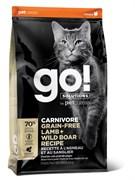 Беззерновой сухой корм GO! NATURAL Holistic для котят и кошек  с Ягненком и мясом Дикого Кабана (GO! CARNIVORE GF Lamb + Wild Boar Recipe CF 42/15)