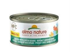 Полнорационные консервы ALMO NATURE HFC Complete для кошек с курицей и зелёной фасолью (Complete - Chicken with Green Beans)