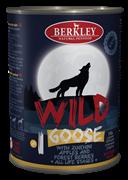 Консервы BERKLEY WILD GOOSE № 1 для щенков и собак Гусь с цукини яблоками и лесными ягодами