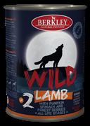 Консервы BERKLEY WILD LAMB № 2 для щенков и собак Ягненок с тыквой, шпинатом и лесными ягодами