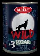 Консервы BERKLEY WILD Boar № 3 для щенков и собак Кабан с пастернаком, сладким луком и лесными ягодами