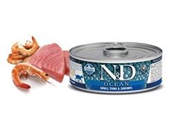 Консервы FARMINA ND CAT OCEAN TUNA/SHRIMP для взрослых кошек с тунцом и креветками