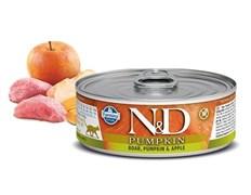 Консервы FARMINA ND CAT BOAR, PUMPKIN/APPLE для взрослых кошек с кабаном, тыквой и яблоком