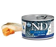 Консервы FARMINA ND DOG OCEAN COD/PUMPKIN PUPPY MINI для щенков малых пород с филе трески и тыквой