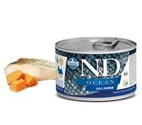 Консервы FARMINA ND DOG OCEAN COD/PUMPKIN MINI для взрослых собак малых пород с филе трески и тыквой