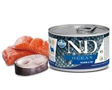 Консервы FARMINA ND DOG OCEAN SALMON/COD MINI для взрослых собак малых пород с лососем и филе трески