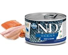 Консервы FARMINA ND DOG OCEAN TROUT/SALMON MINI для взрослых собак малых пород с форелью и лососем
