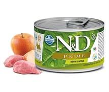 Консервы FARMINA ND DOG PRIME BOAR/APPLE MINI для взрослых собак малых пород с кабаном и яблоком