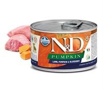 Консервы FARMINA ND DOG LAMB, PUMPKIN/BLUEBERRY STARTER MINI для щенков малых пород до 2 месяцев с ягненком, тыквой и черникой