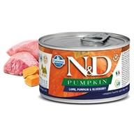 Консервы FARMINA ND DOG LAMB, PUMPKIN/BLUEBERRY PUPPY MINI для щенков малых пород старше 2 месяцев с ягненком, тыквой и черникой