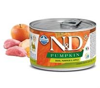Консервы FARMINA ND DOG BOAR, PUMPKIN/APPLE MINI для взрослых собак малых пород с кабаном, тыквой и яблоком