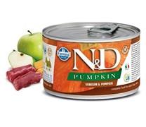 Консервы FARMINA ND DOG VENISON/PUMPKIN MINI для взрослых собак малых пород с олениной и тыквой