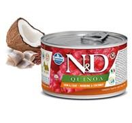 Консервы FARMINA ND DOG QUINOA HERRING/COCONUT MINI для взрослых собак малых пород с сельдью, киноа и кокосом для кожи и шерсти