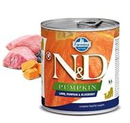Консервы FARMINA ND DOG LAMB, PUMPKIN/BLUEBERRY STARTER для щенков всех пород до 2 месяцев с ягненком, тыквой и черникой