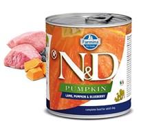 Консервы FARMINA ND DOG LAMB, PUMPKIN/BLUEBERRY  для взрослых собак всех пород с ягненком, тыквой и черникой