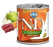Консервы FARMINA ND DOG VENISON/PUMPKIN для взрослых собак всех пород с олениной и тыквой