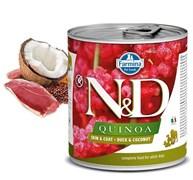 Консервы FARMINA ND DOG QUINOA DUCK/COCONUT для взрослых собак всех пород с уткой, киноа и кокосом для кожи и шерсти