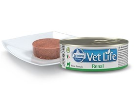 Консервы FARMINA VETLIFE NATURAL DIET CAT RENAL для взрослых кошек с курицей и рыбой диета при заболеваниях почек