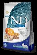 Низкозерновой cухой корм FARMINA OCEAN для взрослых собак мелких пород рыба с апельсином