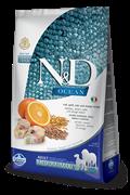Низкозерновой cухой корм FARMINA OCEAN для взрослых собак средних и крупных пород рыба с апельсином