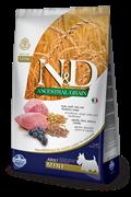 Низкозерновой cухой корм FARMINA ND для взрослых собак мелких пород с ягненком и черникой