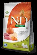 Беззерновой cухой корм FARMINA ND для взрослых собак мелких пород с кабаном, яблоком и тыквой