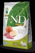 Беззерновой cухой корм FARMINA ND для взрослых собак мелких пород кабан с яблоком