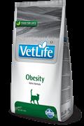 Сухой корм FARMINA VET LIFE OBESITY для кошек диета при ожирении