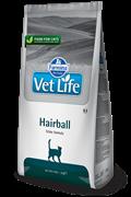 Сухой корм FARMINA VET LIFE Hairball для кошек диета выведения шерстяных комочков