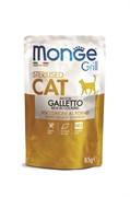 Пауч MONGE CAT GRILL для стерилизованных кошек Итальянская курица