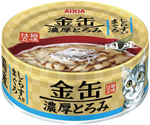 Консервы для кошек AIXIA Kin-Can Rich Tuna with Whitebait тунец и мальки ширасу в густом бульоне