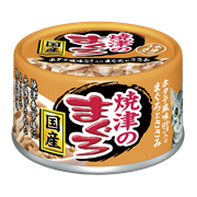 Консервы для кошек AIXIA Yaizu-no-Maguro, тунец, куриное филе и гребешок в нежном желе