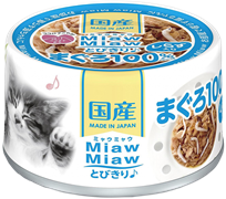 Консервы для кошек AIXIA MiawMiaw Tobikiri, тунец и ширасу в нежном желе