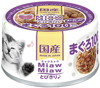 Консервы для кошек AIXIA MiawMiaw Tobikiri, тунец и сушеный бонито в нежном желе