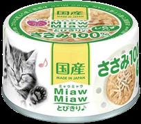 Консервы для кошек AIXIA MiawMiaw Tobikiri, куриное филе и мальки ширасу в нежном желе