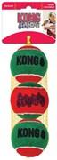 KONG Holiday игрушка для собак Теннисный мячик  6 см / 3 шт
