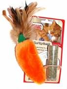 """Игрушка для кошек KONG """"Морковь"""" 15 см с тубом кошачьей мяты"""
