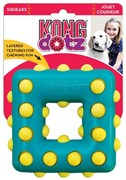 Игрушка для собак KONG Dotz квадрат с пищалкой