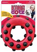 Игрушка для собак KONG Dotz кольцо с пищалкой