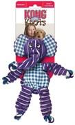 Игрушка для собак KONG Floppy Knots Слон с веревкой внутри и пищалками