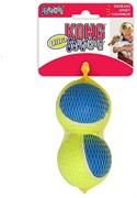 Игрушка для собак KONG Ultra Squeak мячик 8 см / 2 шт с пищалкой