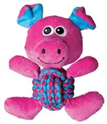 Игрушка для собак KONG Weave Knots Свинка из крепкой веревки