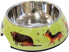 """Миска SuperDesign на меламиновой подставке """"Собачки"""" 0,16 л"""
