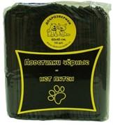 Пеленки гелевые для животных Доброзверики с суперабсорбентом  60х40 см, 14 шт, черные
