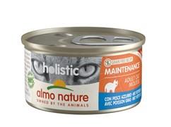 Консервы ALMO NATURE мусс для кошек с жирной рыбой (Holistic Cat wet Maintenance  - with oil fish))