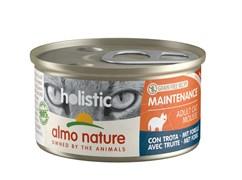 Консервы ALMO NATURE мусс для кошек с форелью (Holistic Cat wet Maintenance  - with trout)