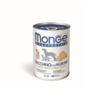 Паштет MONGE Monoprotein Fruits для собак из индейки с цитрусовыми