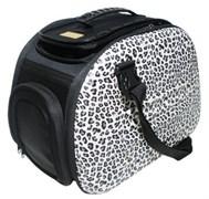 Складная сумка-переноска Ibiyaya для собак и кошек до 6 кг 46 х 32 х 30 см цвет сафари