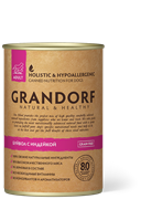 Консервы GRANDORF для собак всех пород с мясом буйвола и индейкой